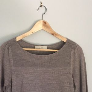 Loft sweater with pretty scallop detail